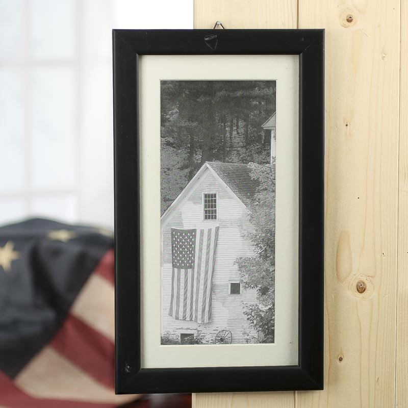 Black And White Americana Farm House Framed Print On