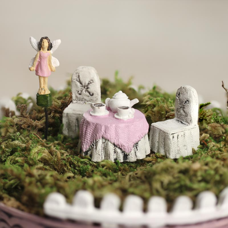 Miniature Wonderland Tea Cup Garden Set