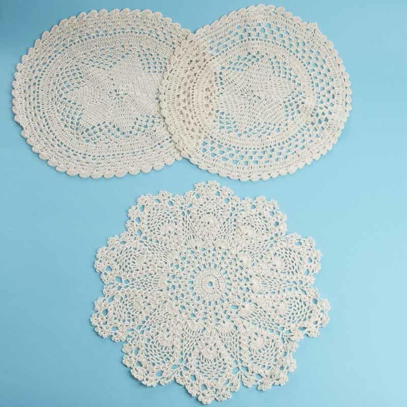 Ecru Round Crocheted Doilies Crochet And Lace Doilies