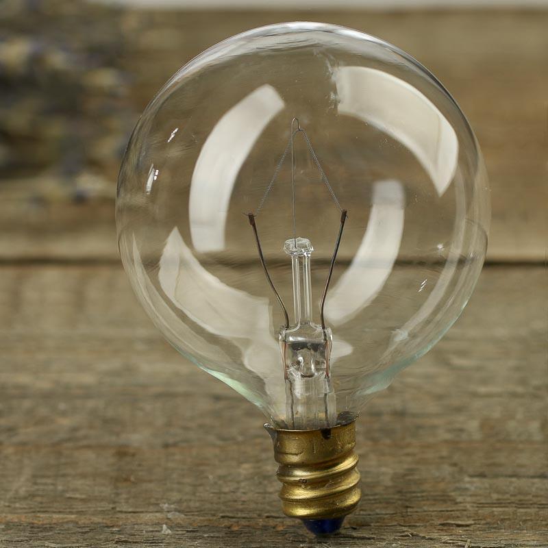 Clear Globe Candelabra Base Light Bulb Lamp Kits Lights Lamp Kits