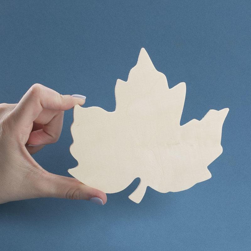 Unfinished Wood Maple Leaf Cutout Wood Cutouts Wood
