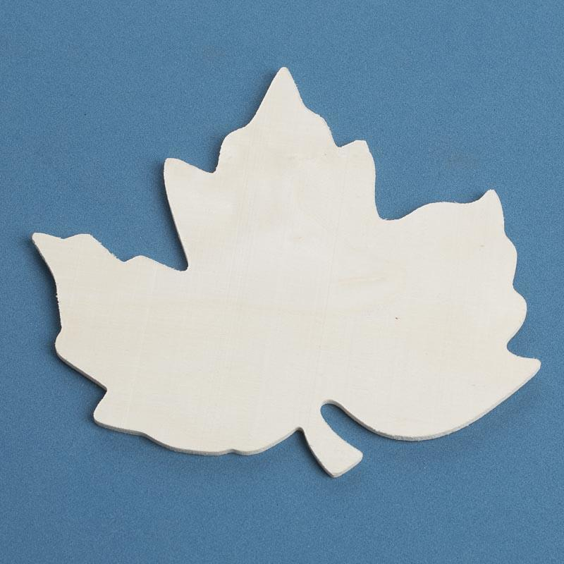 Unfinished Wood Maple Leaf Cutout