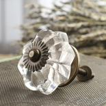 Crystal Acrylic Flower Knob
