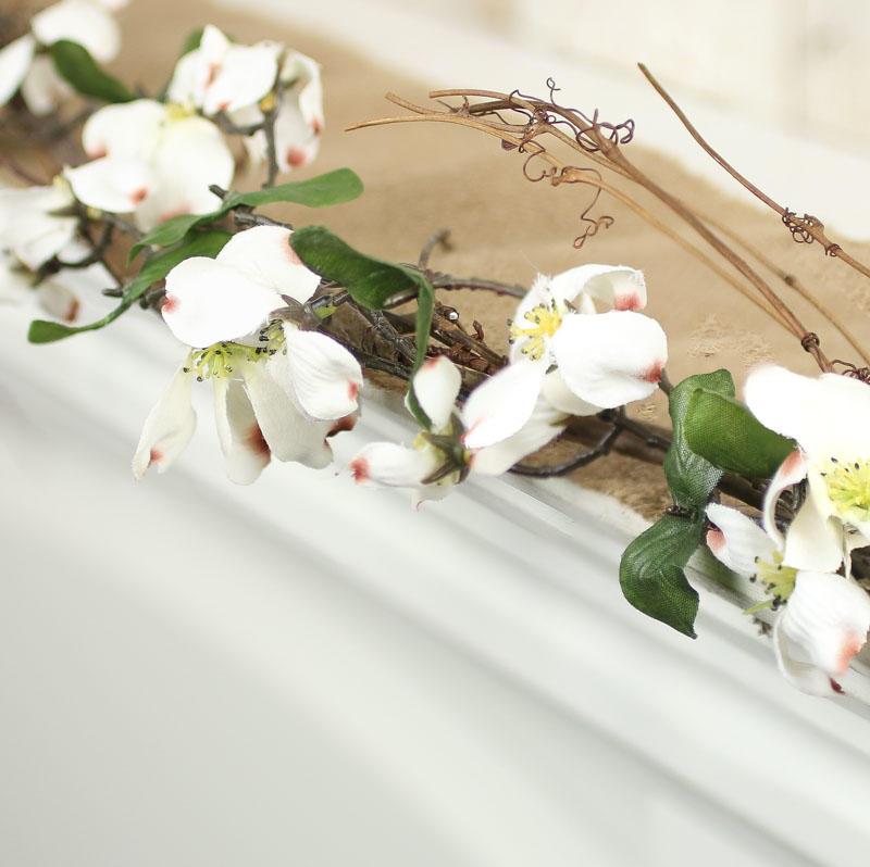 White Artificial Dogwood Garland - Garlands - Floral Supplies ...