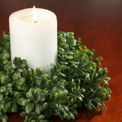 Artificial Boxwood Candle Ring Artificial Greenery