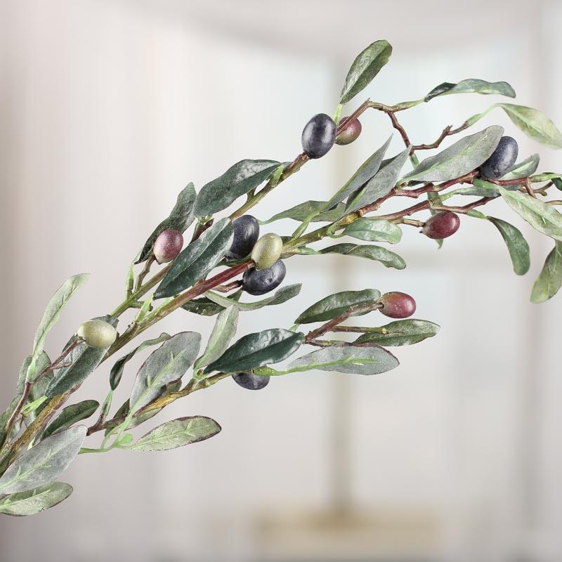 Artificial Olive Tree Branch Stem - Faux Fruits ...