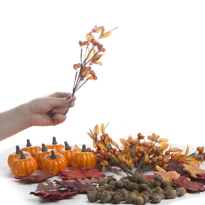 Fall Leaves Pumpkins Acorns And Picks Kit Picks And