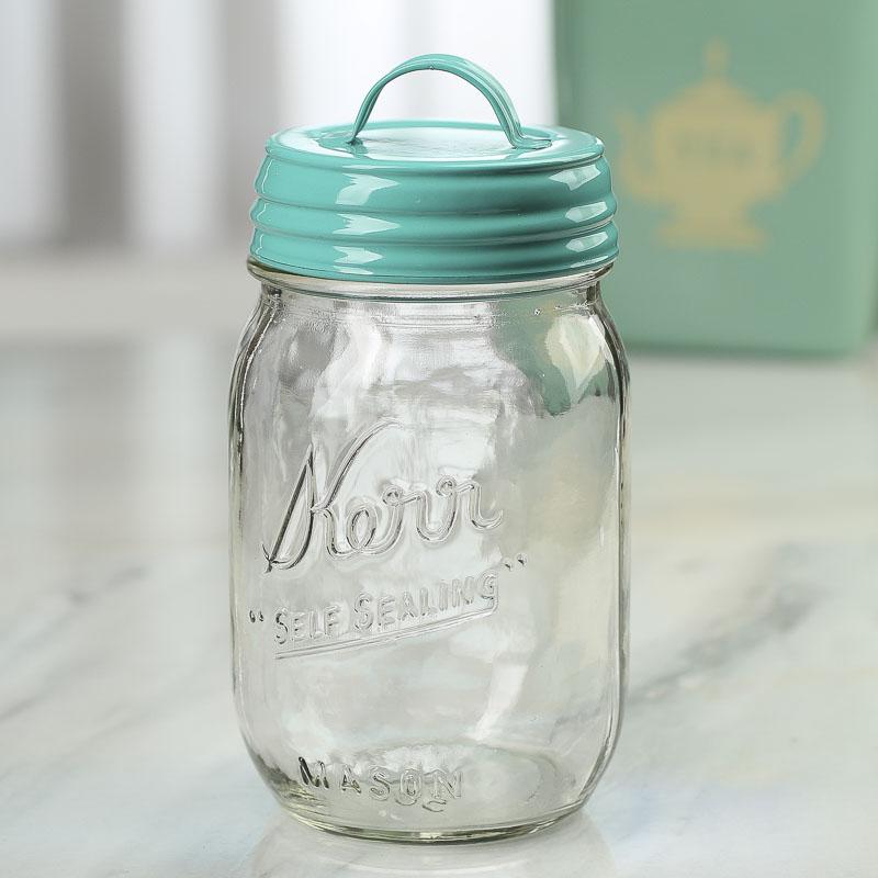 aqua mason jar lid with handle jars lids and pumps primitive decor. Black Bedroom Furniture Sets. Home Design Ideas