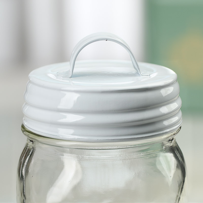 White Mason Jar Lid With Handle Jar Lids Basic Craft