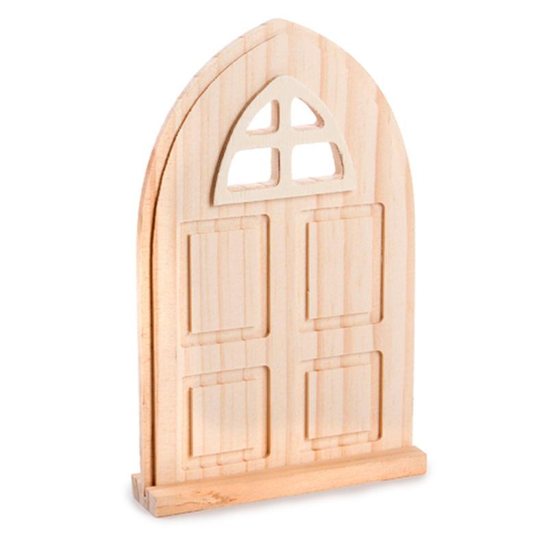 Miniature unfinished wood door fairy garden miniatures for Unpainted fairy doors