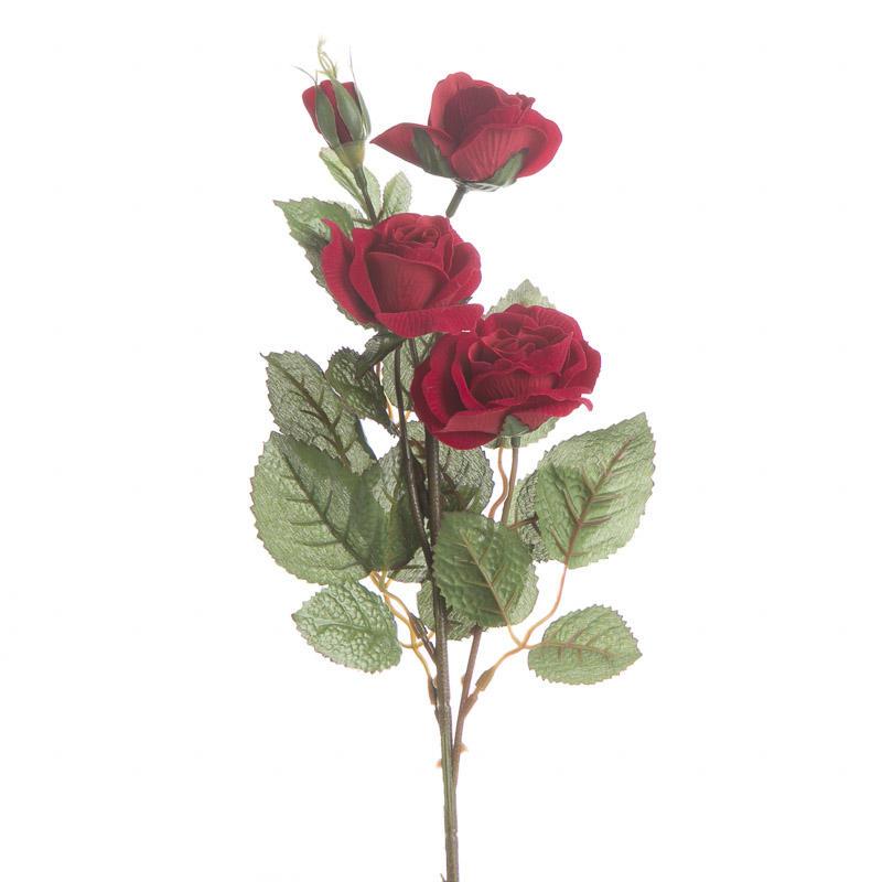 Red Velvet Artificial Rose Pick Picks Sprays Floral