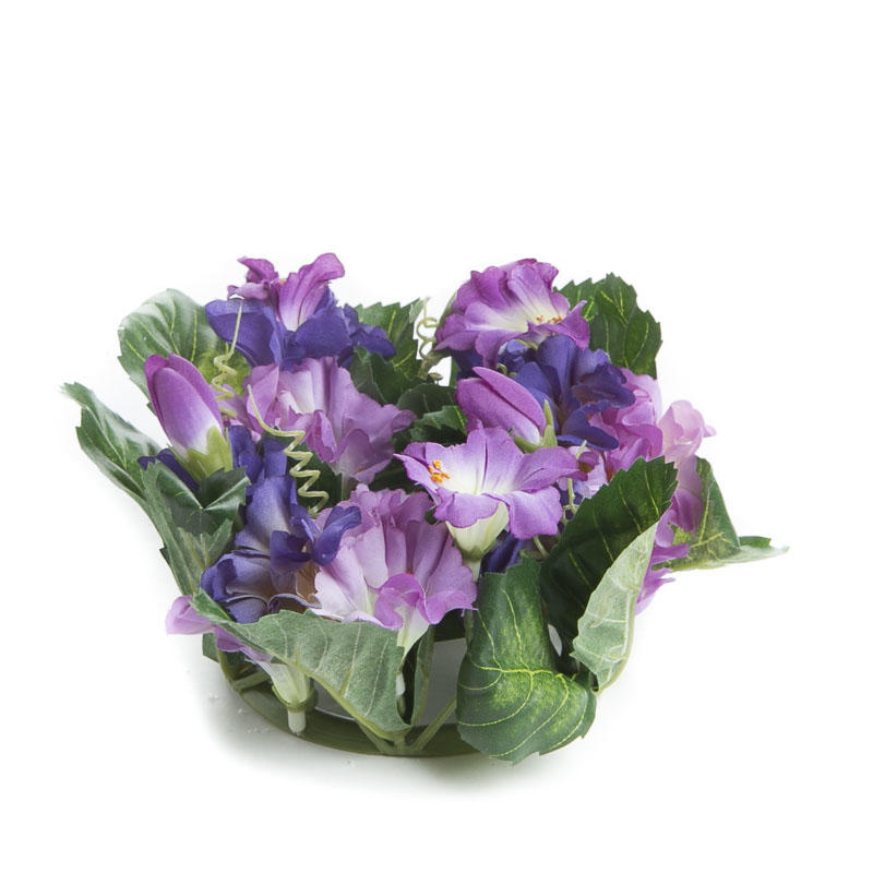 Violet and orchid purple artificial trumpet flower candle for Violet home