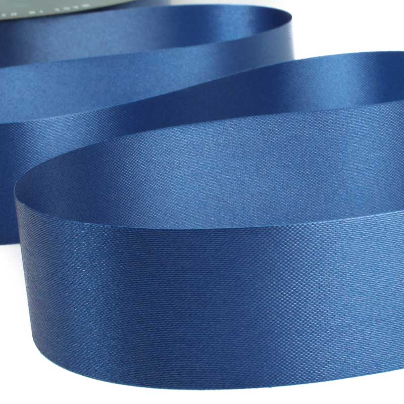 Steel blue flora satin ribbon ribbon and trims craft supplies