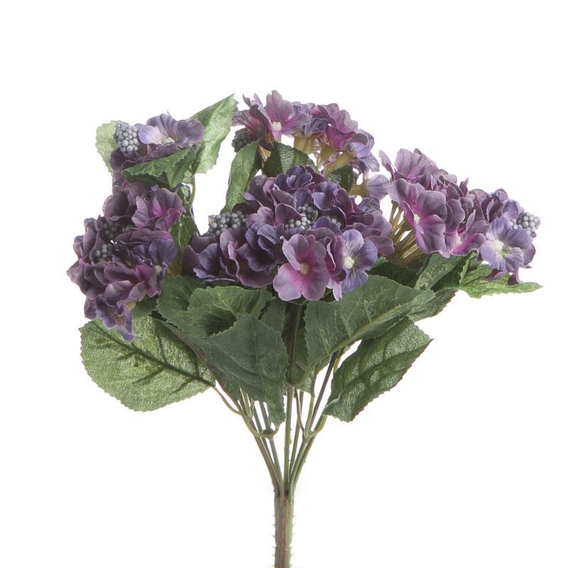 Purple Artificial Hydrangea Bush Bushes Bouquets