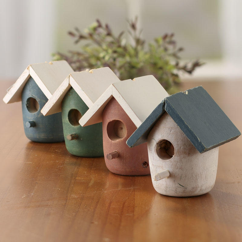 Small wood birdhouse birds butterflies basic craft for Wooden craft supplies online
