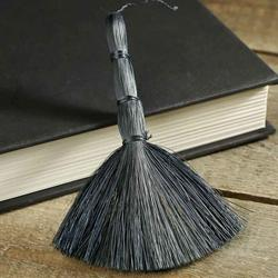 miniature black abaca broom straw brooms fall and