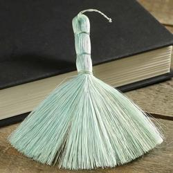 Miniature aqua abaca broom straw brooms fall and for Straw brooms for crafts