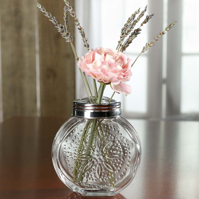 small flower frog glass jar floral design accessories