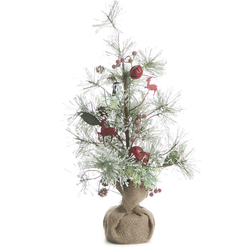 Snowy Artificial Pine and Jingle Bell Tree - Trees and Toppers - Christmas and Winter - Holiday ...