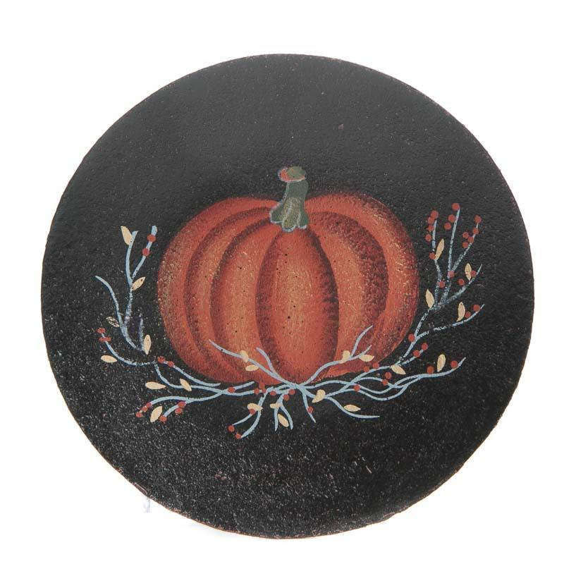 Primitive Fall Pumpkin Wood Plate Decorative Plates And