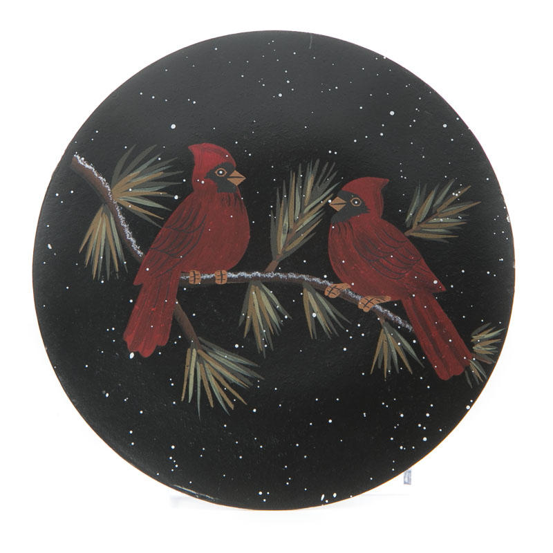 Compare Size  sc 1 st  Factory Direct Craft & Primitive Cardinals Wood Plate - Decorative Plates and Bowls ...