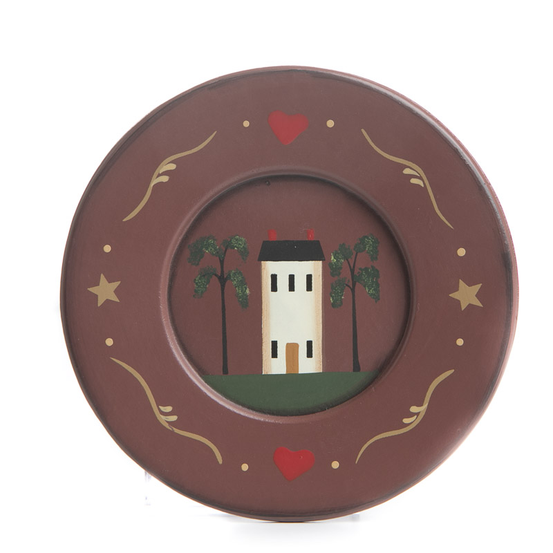 Primitive Wood Saltbox House Plate Decorative Plates And