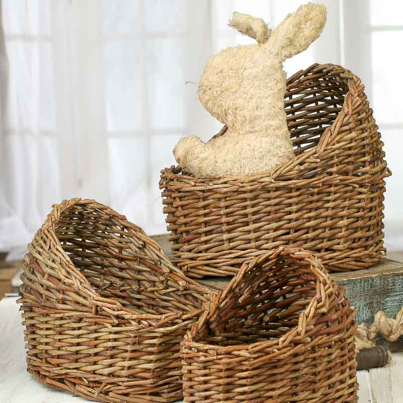 Wicker basket bassinet : Doll wicker bassinet baskets buckets boxes
