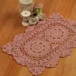 Crochet and lace doilies home decor rose rectangular crocheted doily dt1010fo