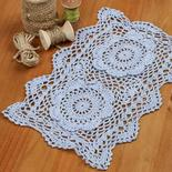 Crochet and lace doilies home decor light blue rectangular crocheted doily dt1010fo