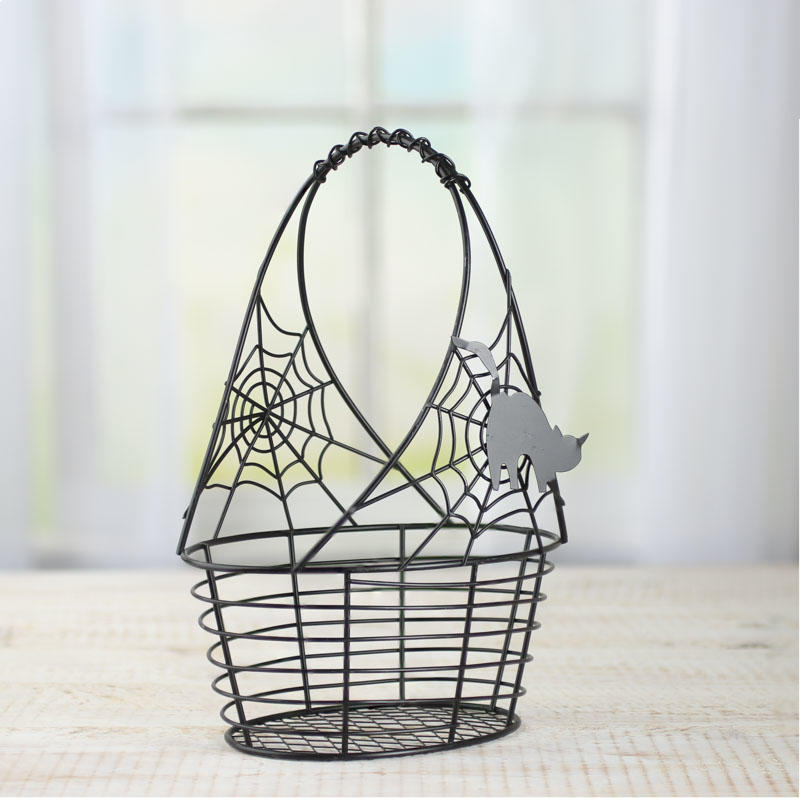 Halloween Wire Basket - Baskets, Buckets, & Boxes - Home Decor