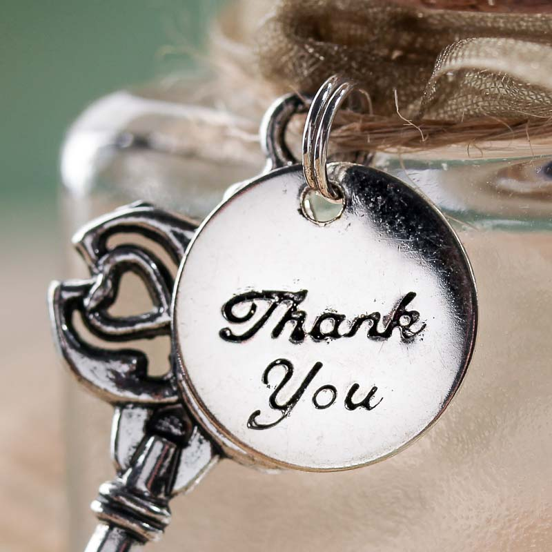 Silver metal thank you charms jewelry charms jewelry for Craft and jewelry supplies