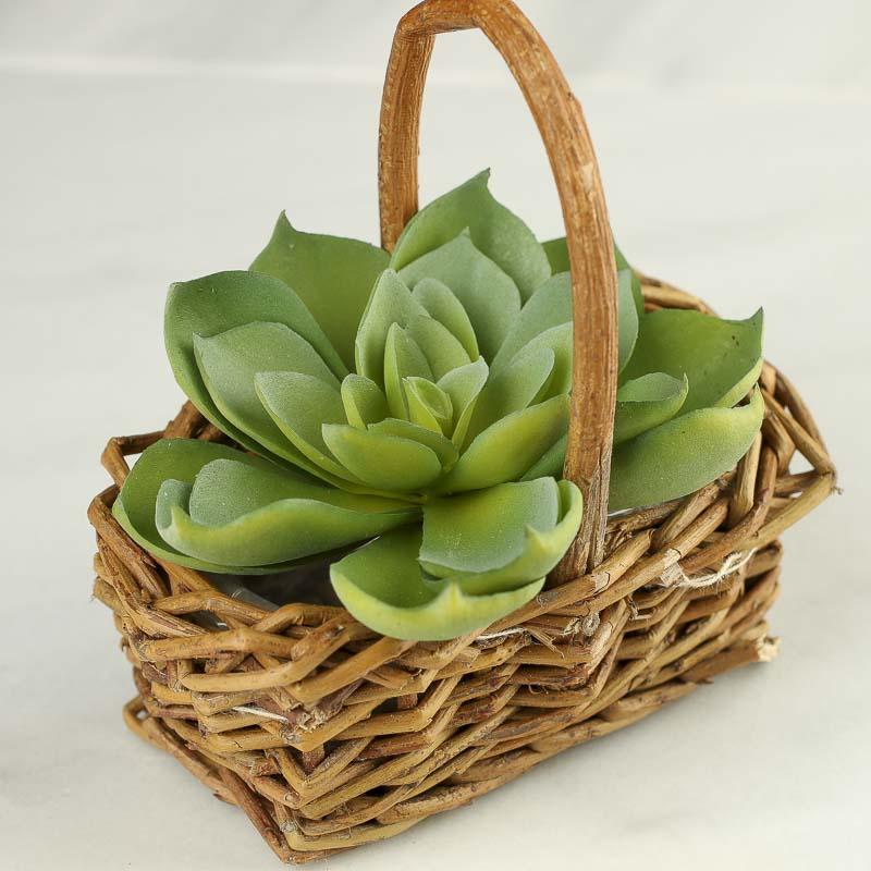 Mini Woven Grapevine Basket Bathroom Laundry