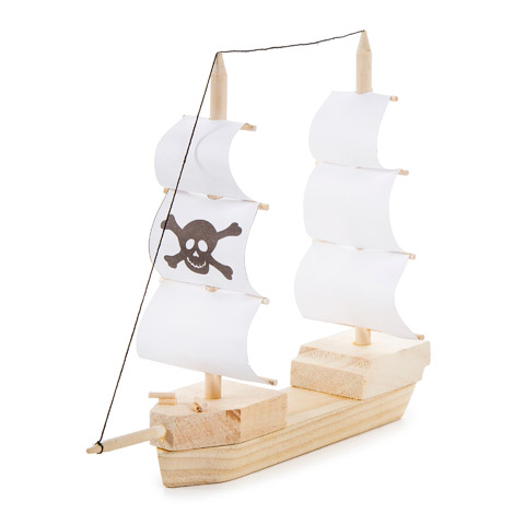 Wooden model pirate ship kit kids craft kits kids for Wood craft supply stores