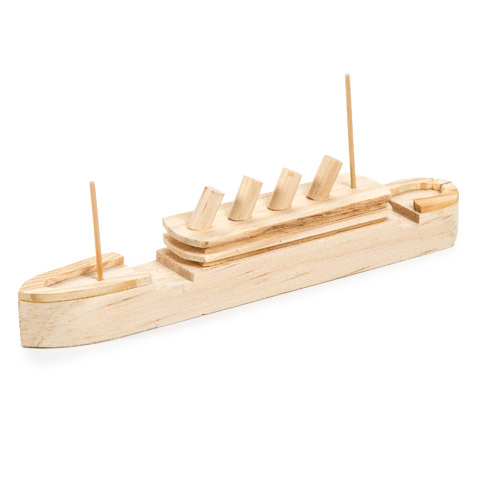 Wood model titanic ship kit activity kits kids crafts for Wooden craft supplies online