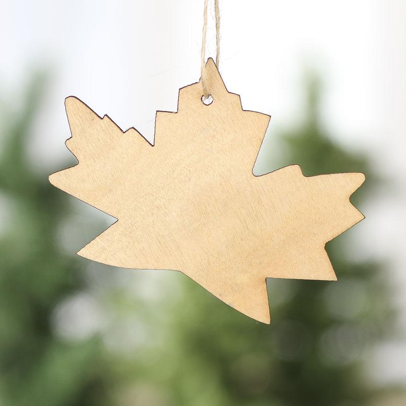 Unfinished Wood Laser Cut Leaf Ornaments Wood Cutouts