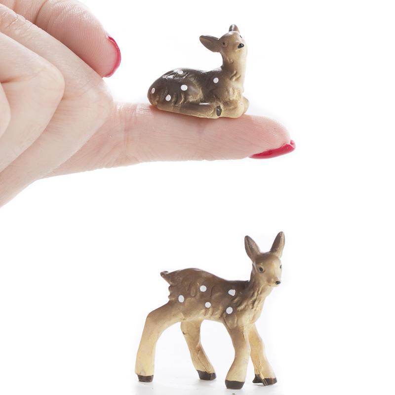 Miniature Baby Deer Animal Miniatures Dollhouse