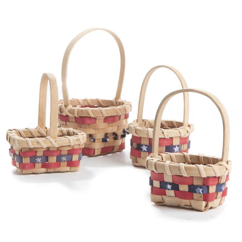 small patriotic wicker basket baskets floral supplies. Black Bedroom Furniture Sets. Home Design Ideas