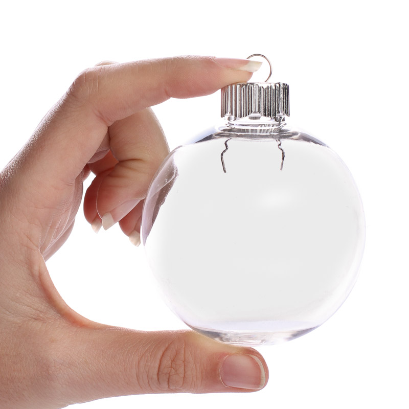 Clear plastic ball ornament acrylic fillable ornaments for Clear plastic balls for crafts