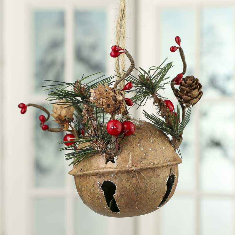 Rustic Christmas Sleigh Bell Door Hanger  Christmas Ornaments