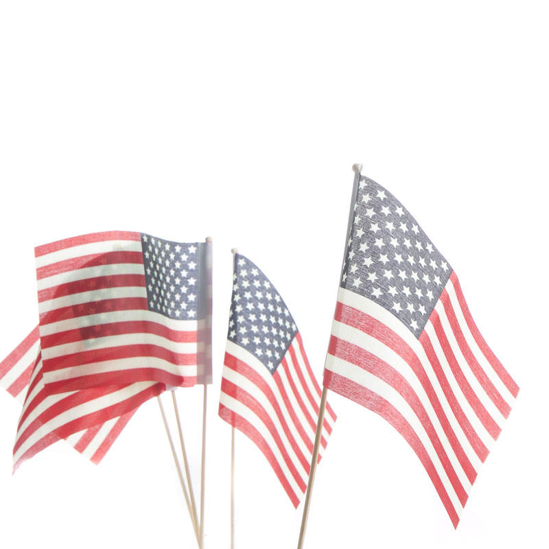 Small American Flags Fourth Of July Americana Holiday Crafts