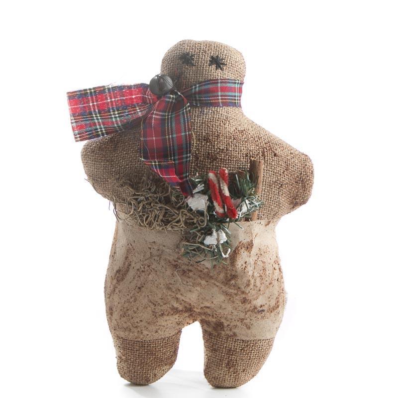 Primitive Christmas Burlap Gingerbread Man Christmas