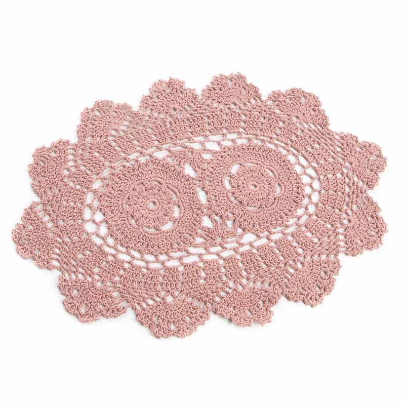 Free Pattern Crochet Oval Doily : Rose Oval Crocheted Doily - Crochet and Lace Doilies ...
