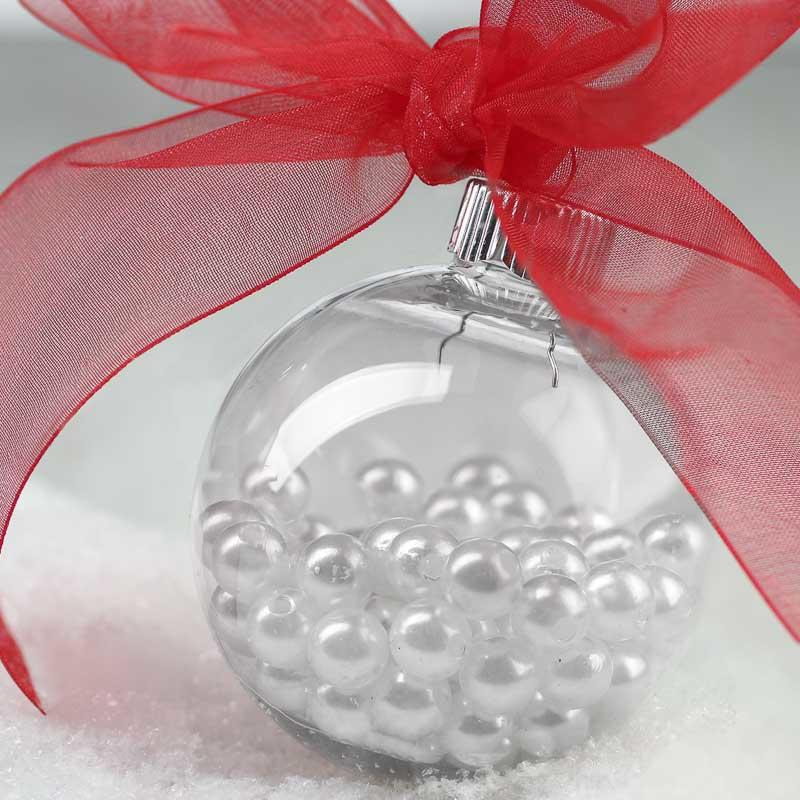 63 Mm Clear Plastic Ball Ornament Acrylic Fillable