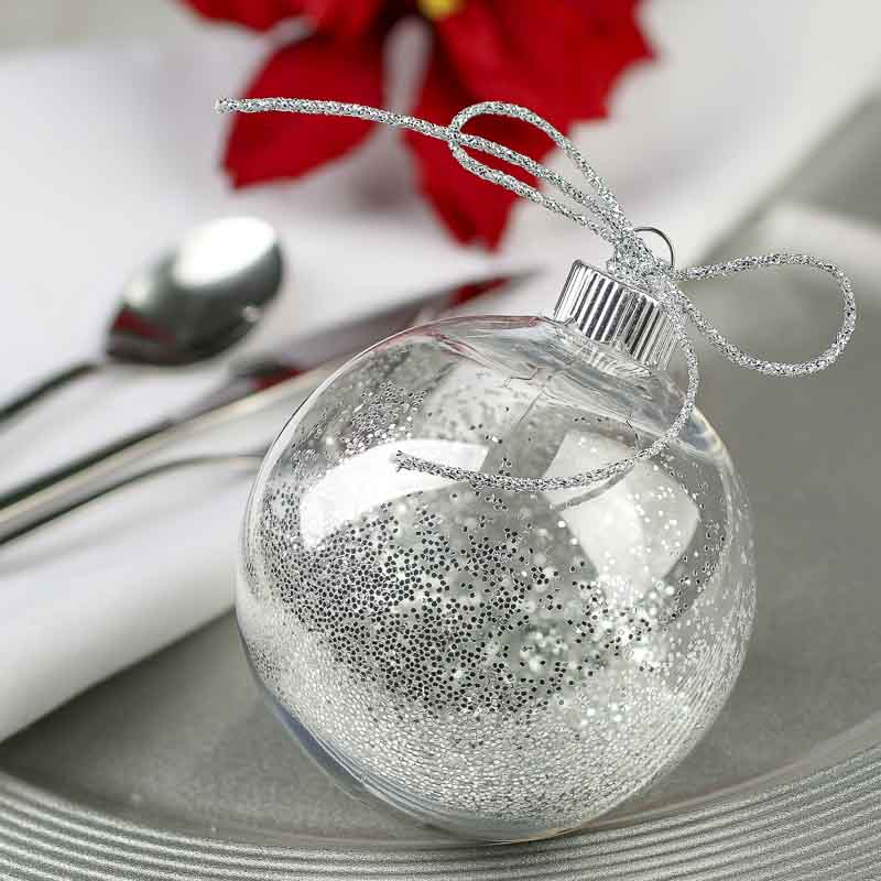 Clear Plastic Ball Ornament