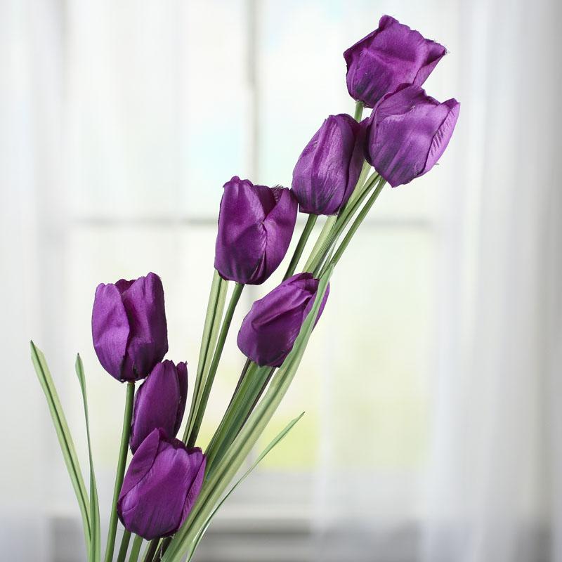 Purple Artificial Tulip Spray - Picks And Stems - Floral ...