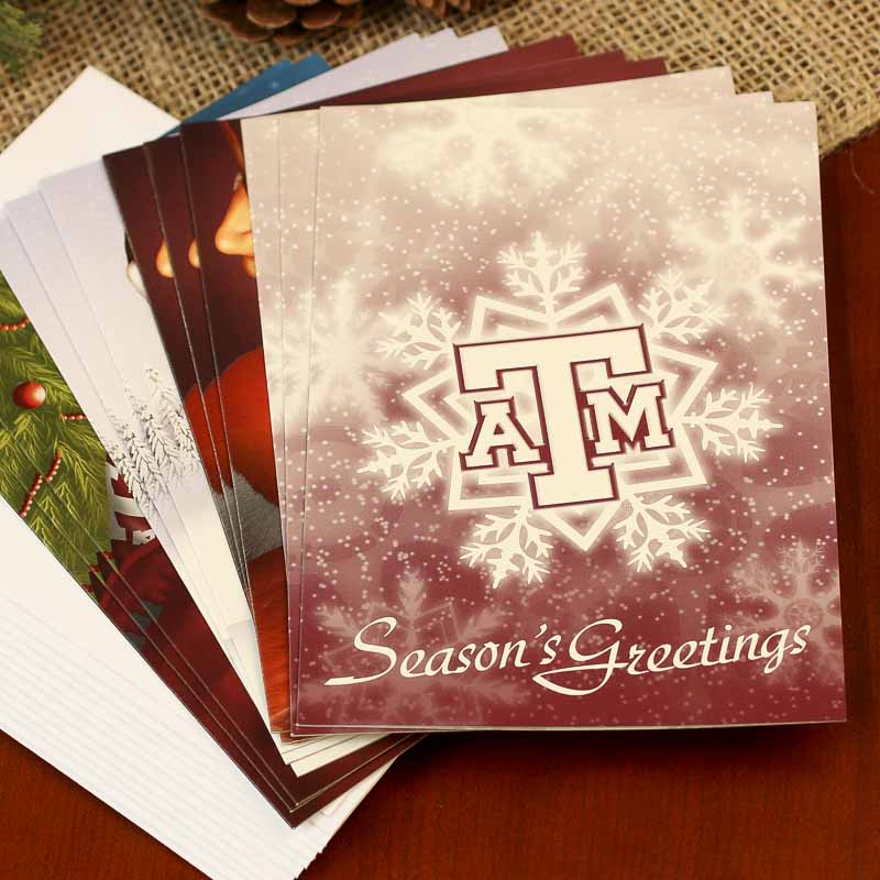 Texas A&M Christmas Spirit Cards Pack - Sports and Cheerleading ...