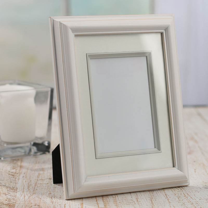 White Distressed Wood Picture Frame Picture Frames