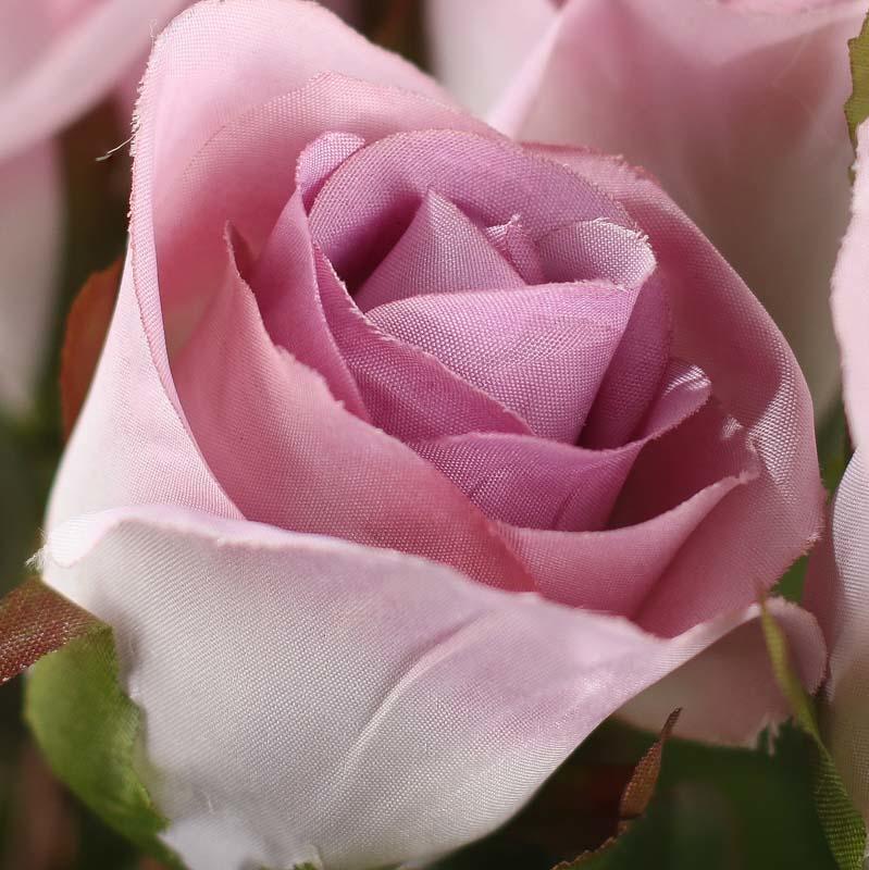 Dozen Lavender Artificial Long Stem Roses Bushes