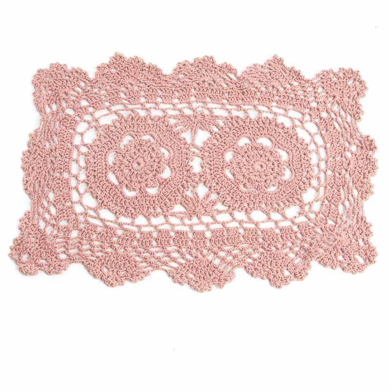 Rose Rectangular Crocheted Doily - Crochet and Lace ...