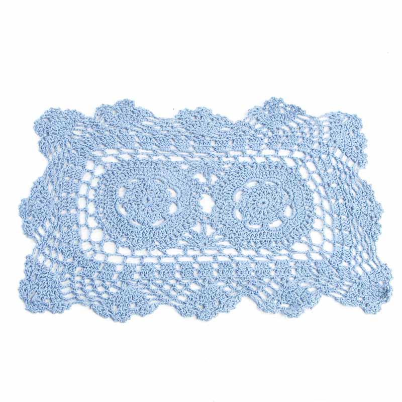 Free Crochet Patterns For Rectangular Doilies : Blue Rectangular Crocheted Doily - Crochet and Lace ...